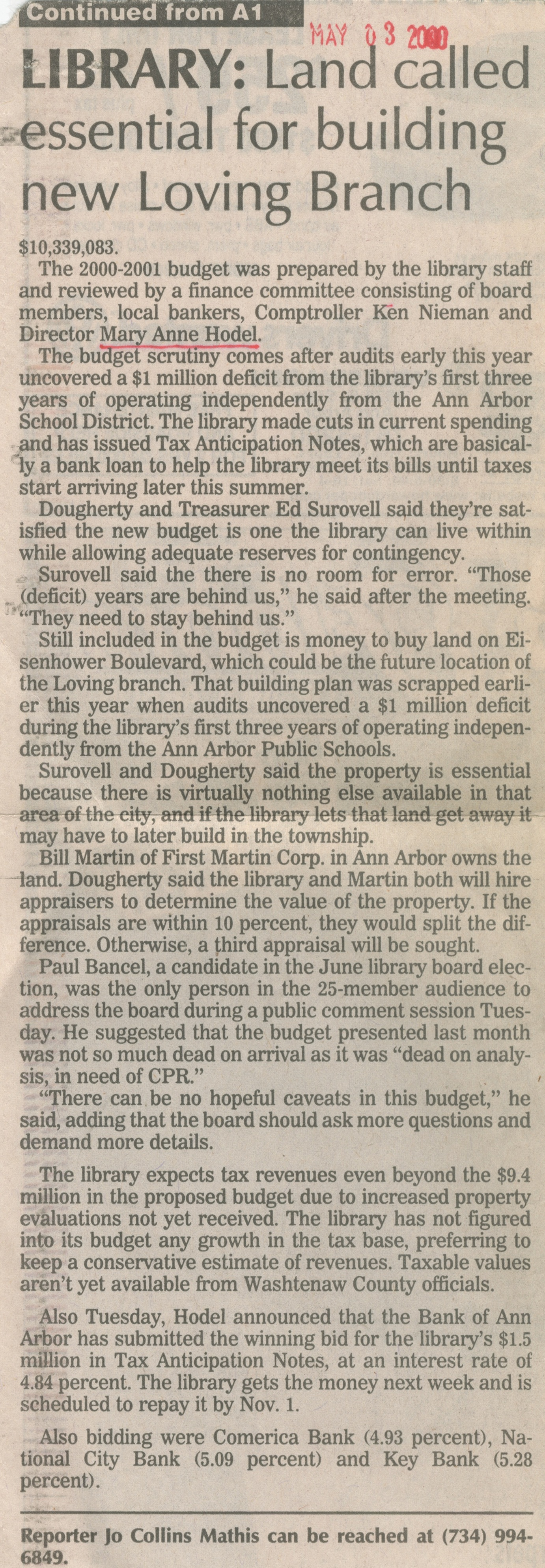 No Layoffs In Revised Library Budget image
