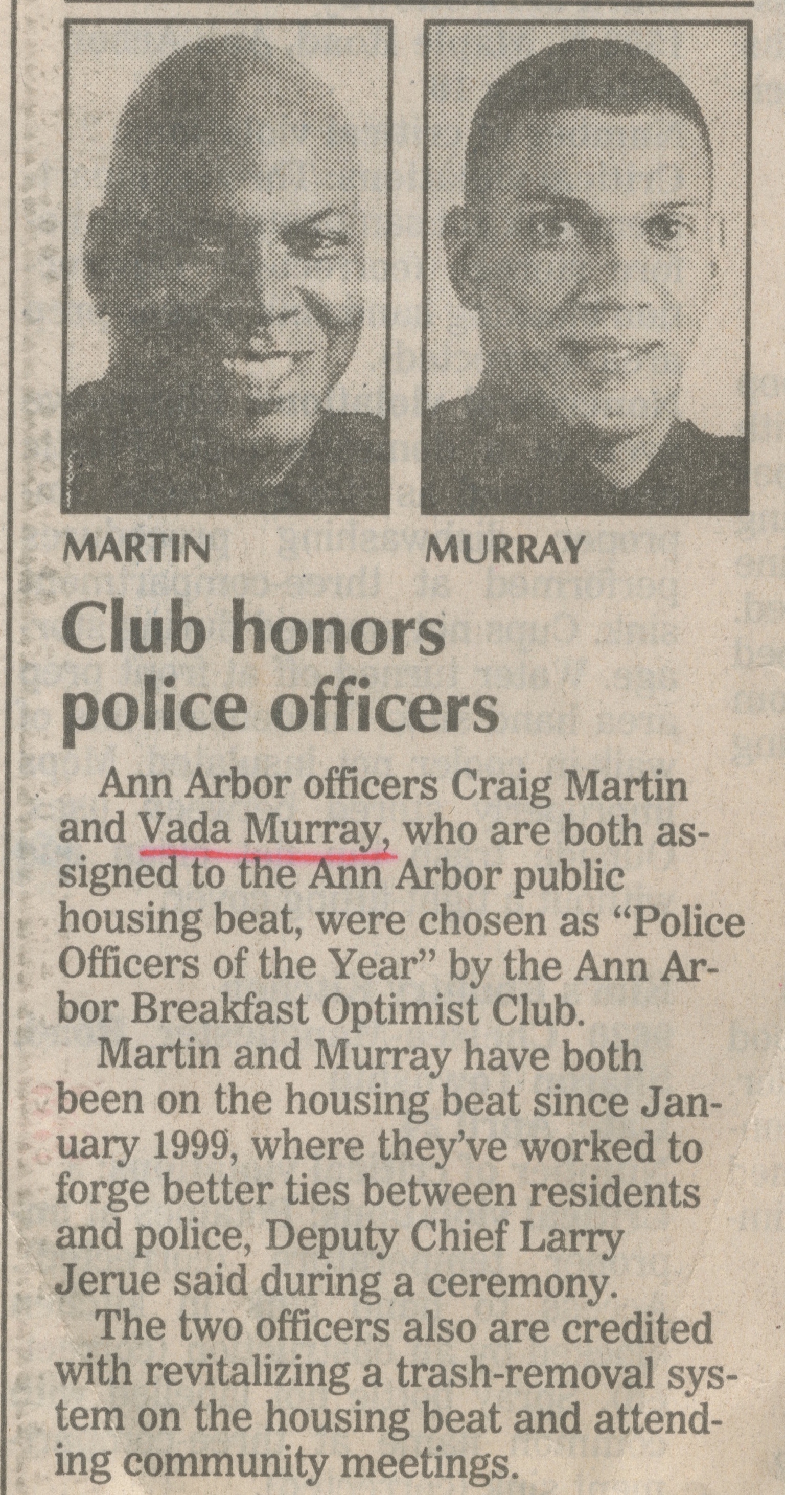 Club Honors Police Officers image