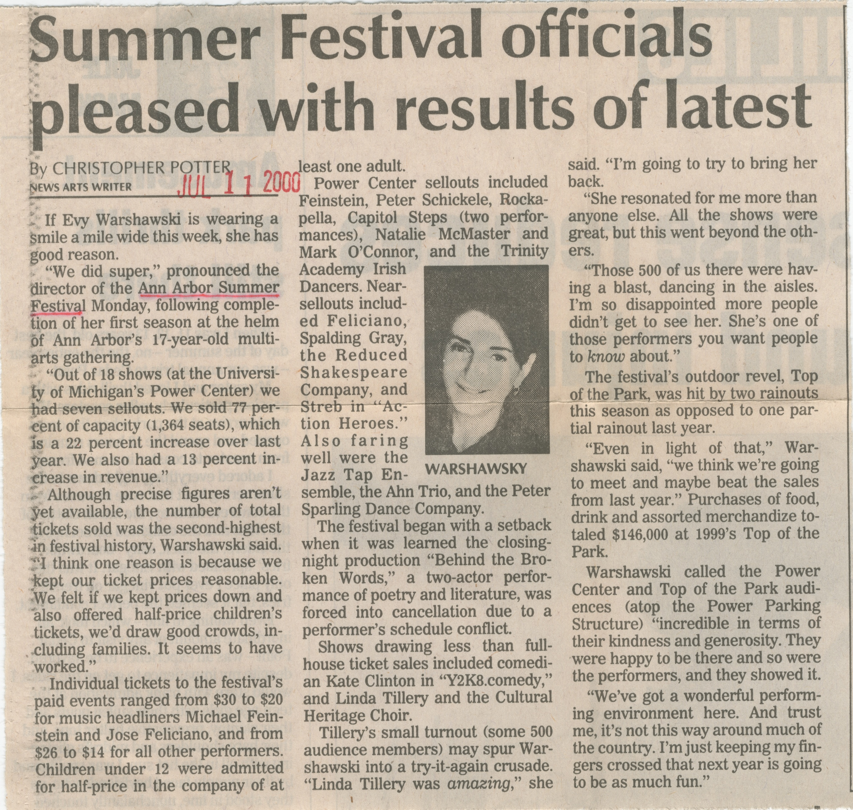 Summer Festival officials pleased with results of latest image