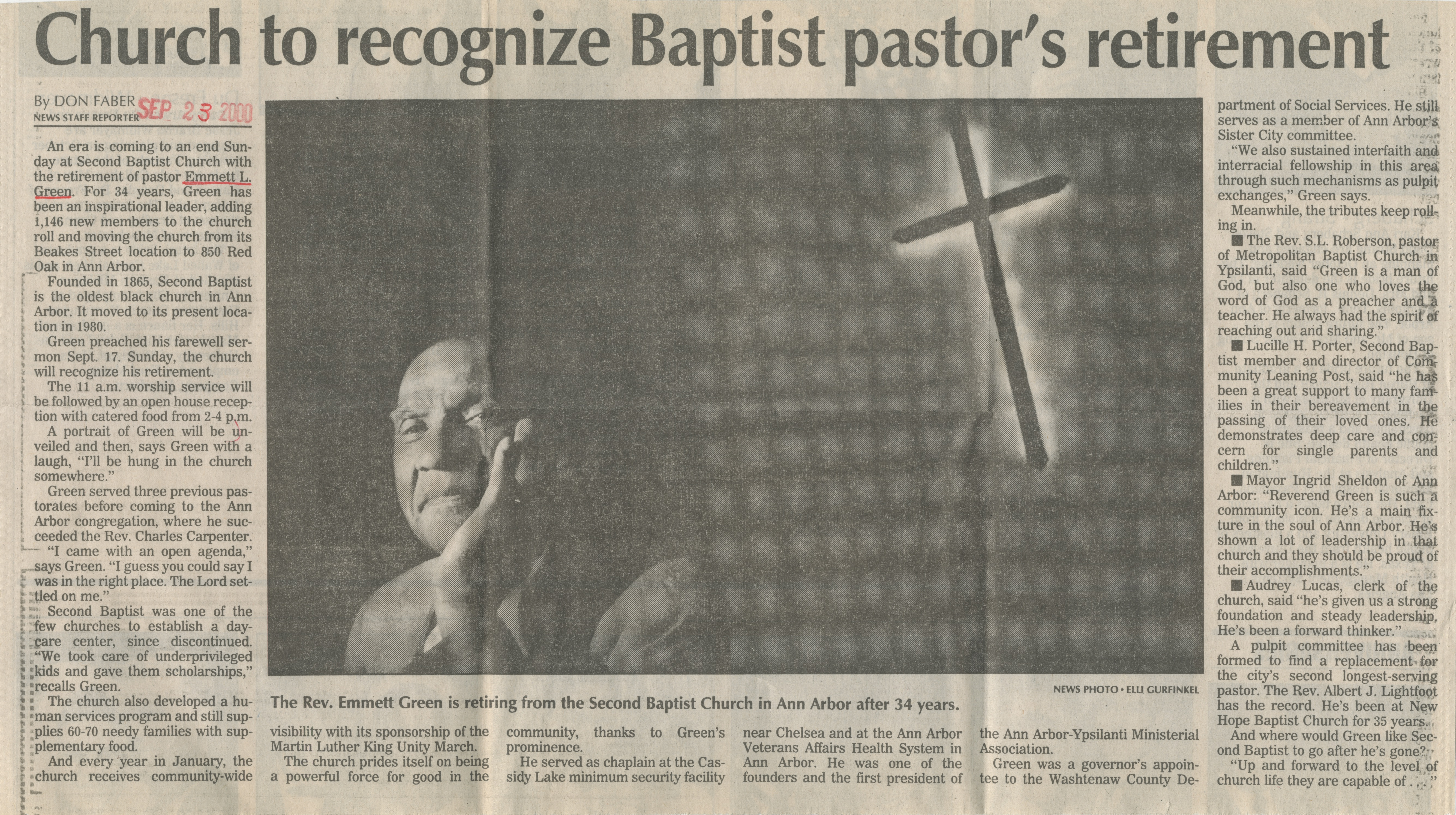 Church To Recognize Baptist Pastor's Retirement image