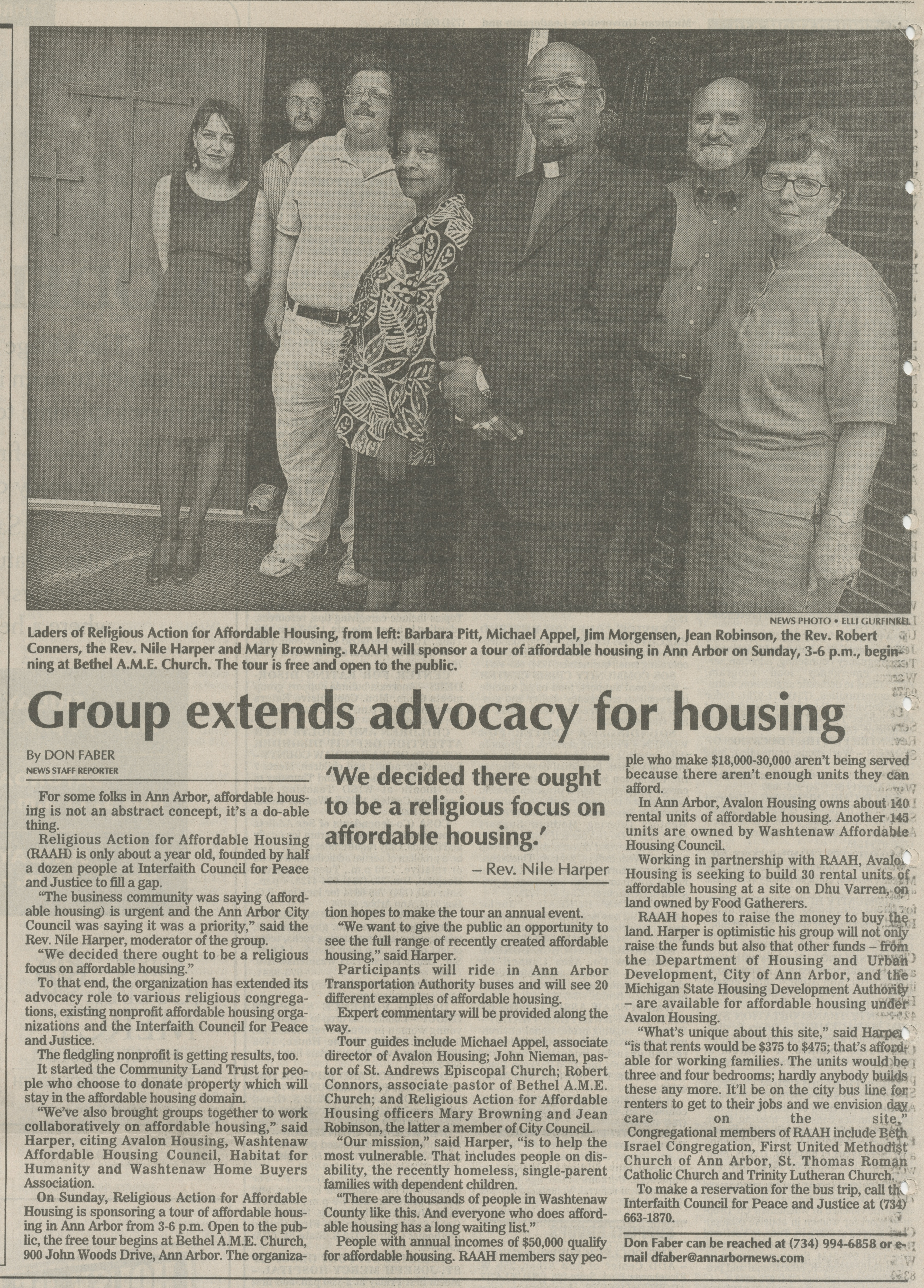 Group Extends Advocacy for Housing image