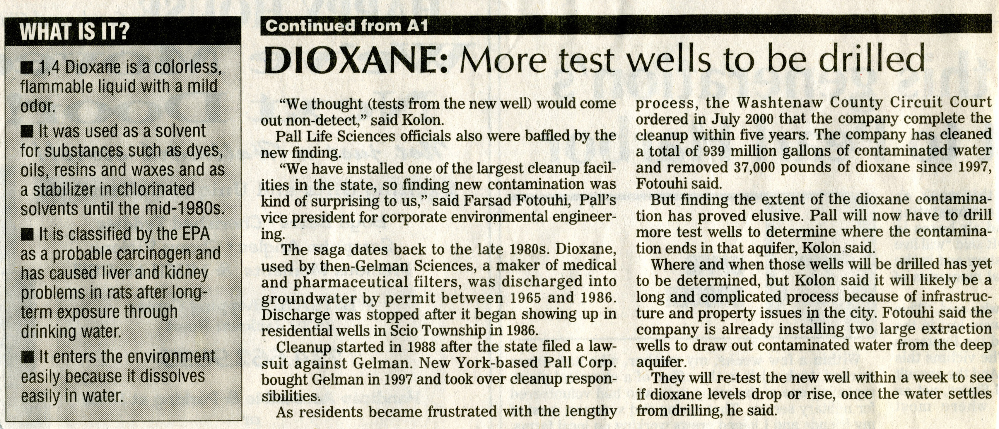 New dioxane findings raise concerns image