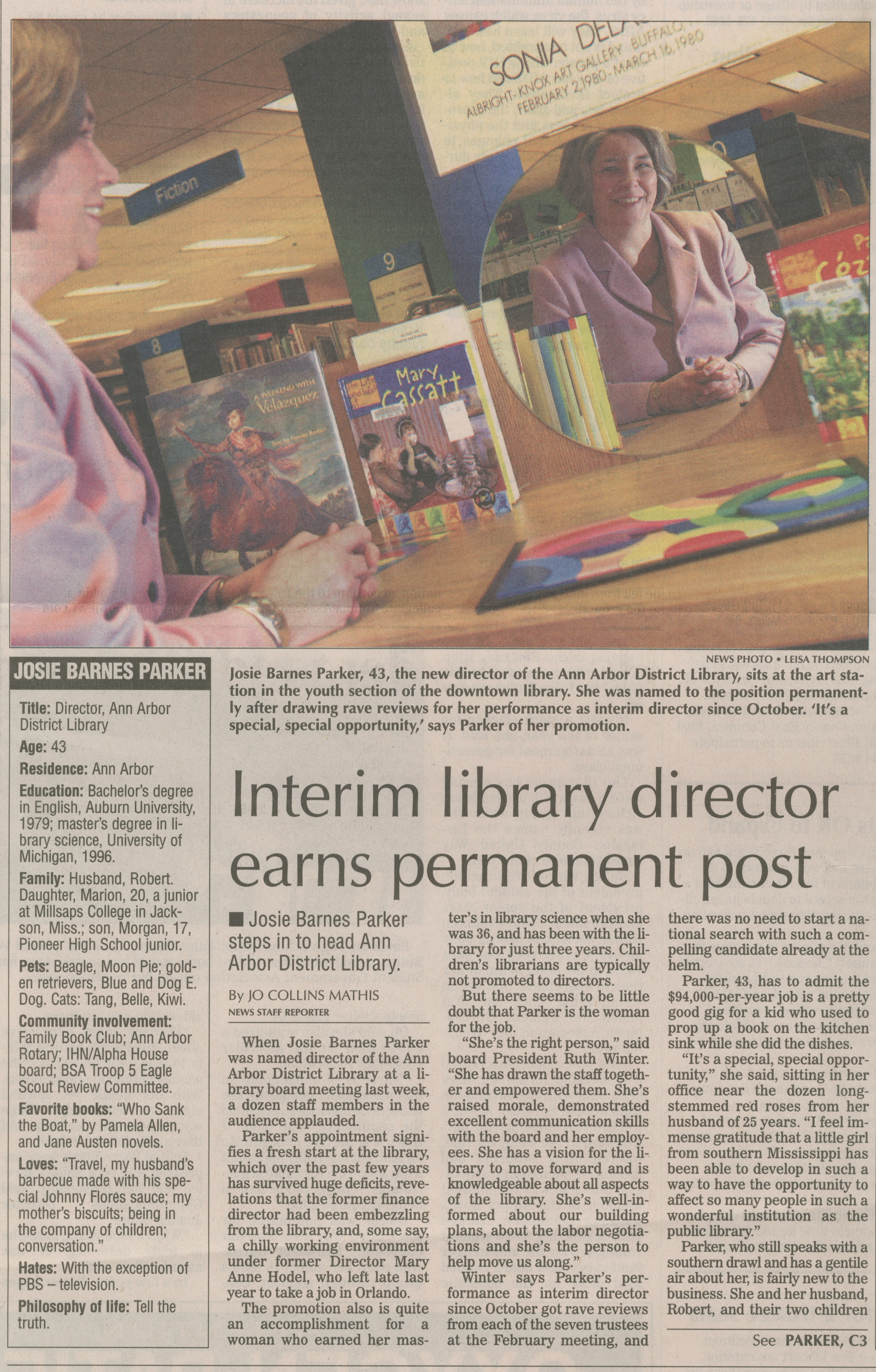 Interim Library Director Earns Permanent Post image