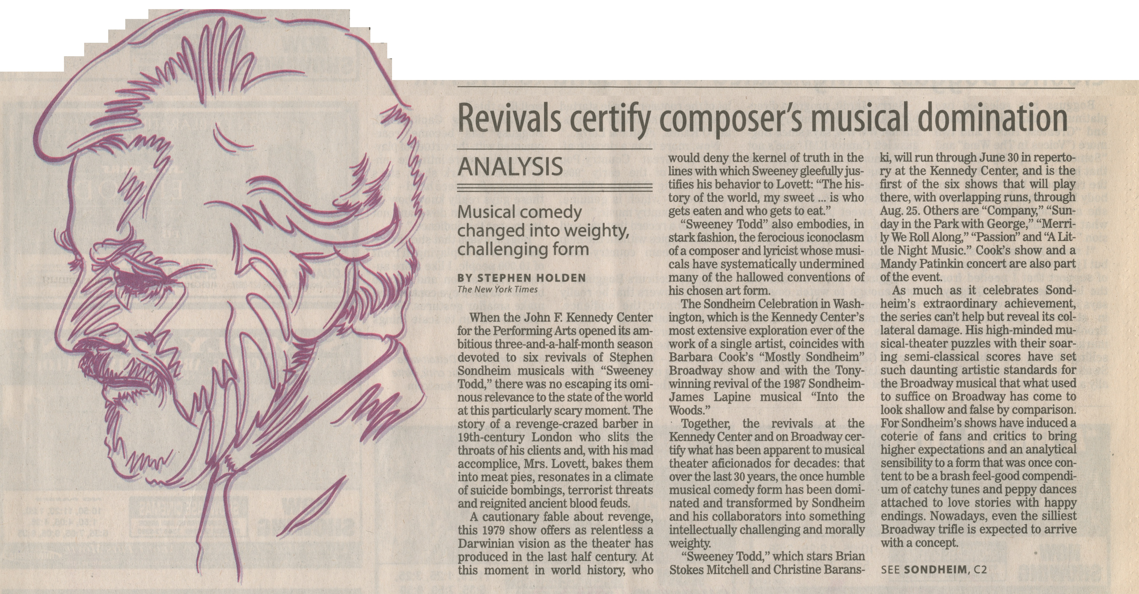 Revivals certify composer's musical domination image