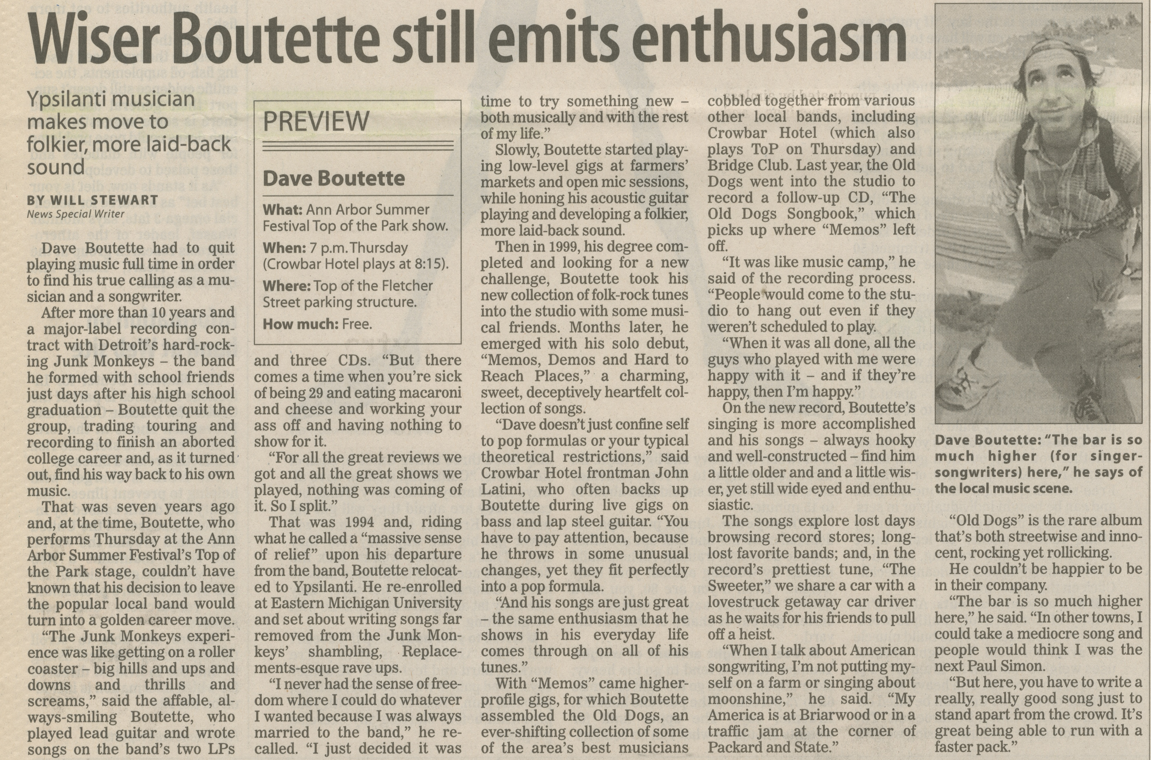 Wiser Boutette still emits enthusiasm image