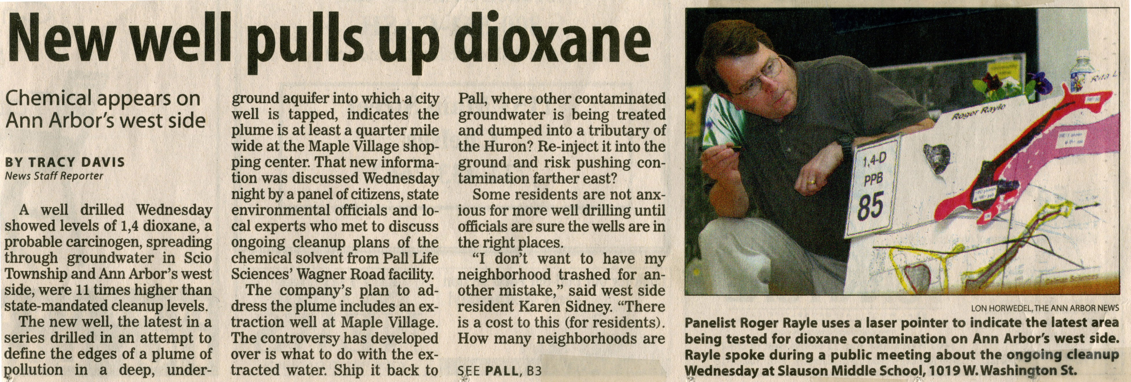 New Well Pulls Up Dioxane image