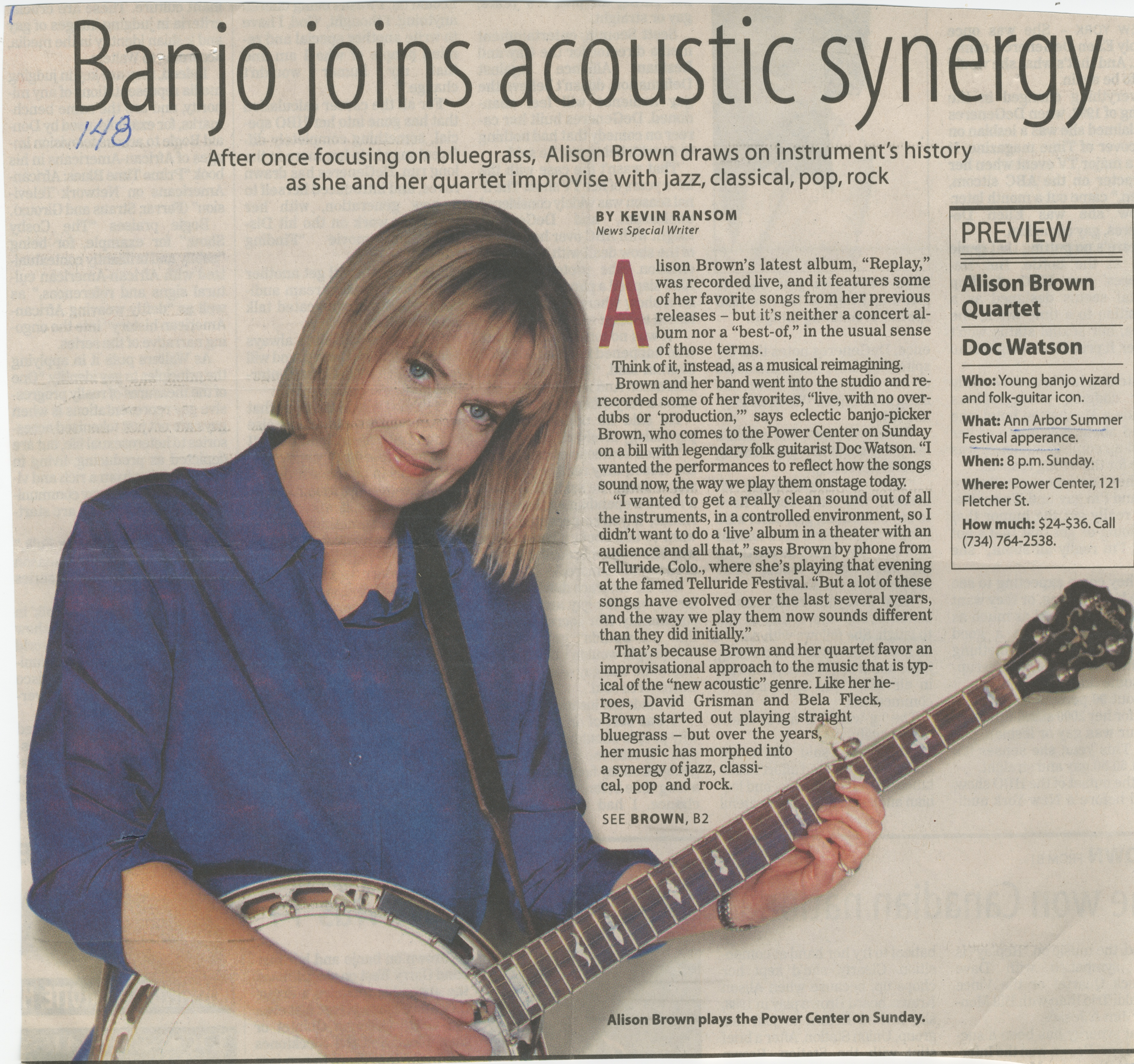 Banjo joins acoustic synergy image
