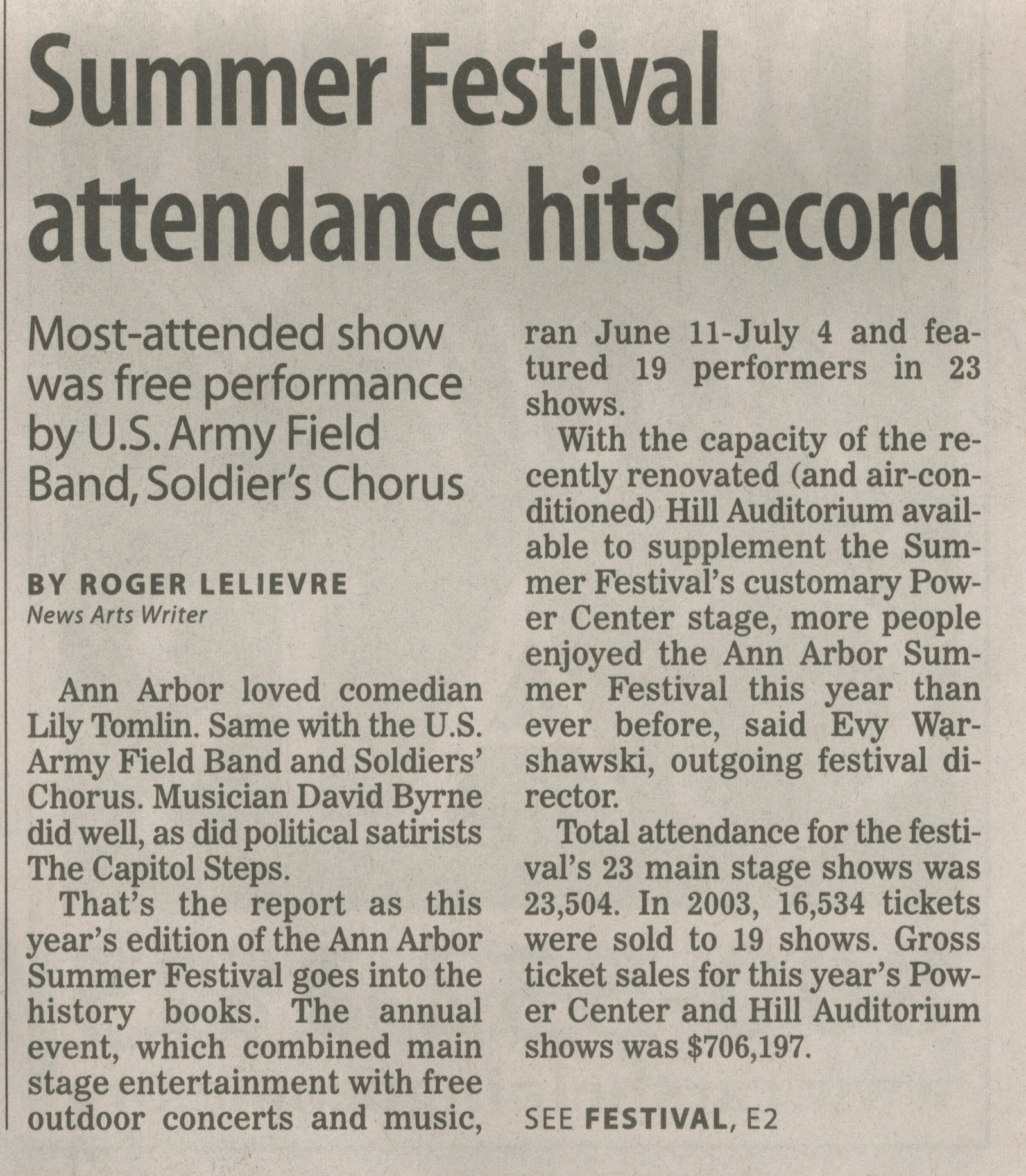 Summer Festival attendance hits record image