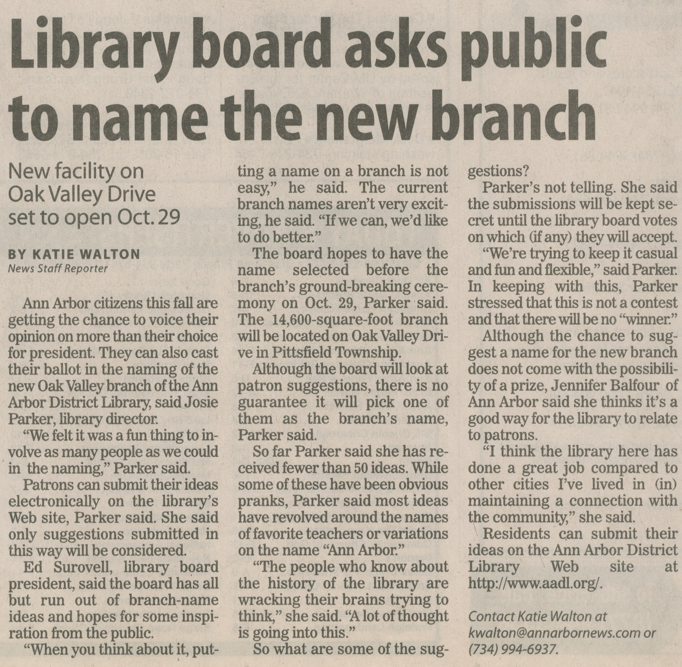 Library Board Asks Public To Name The New Branch image
