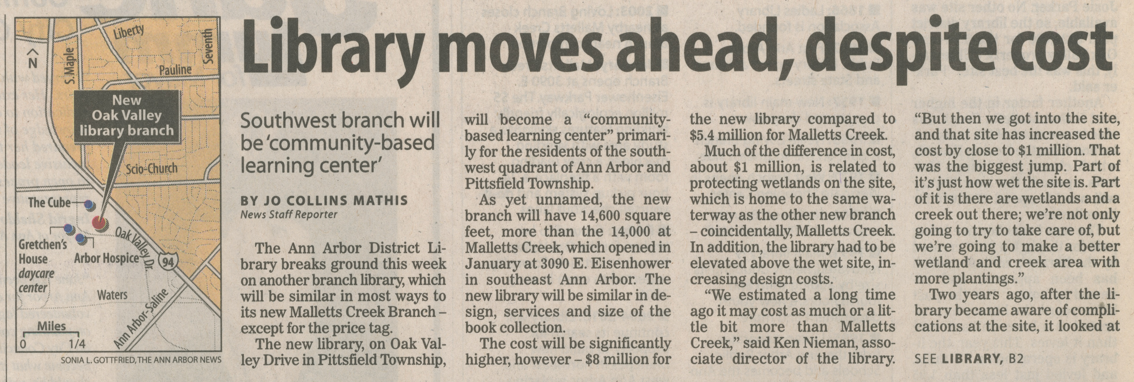 Library Moves Ahead, Despite Cost image