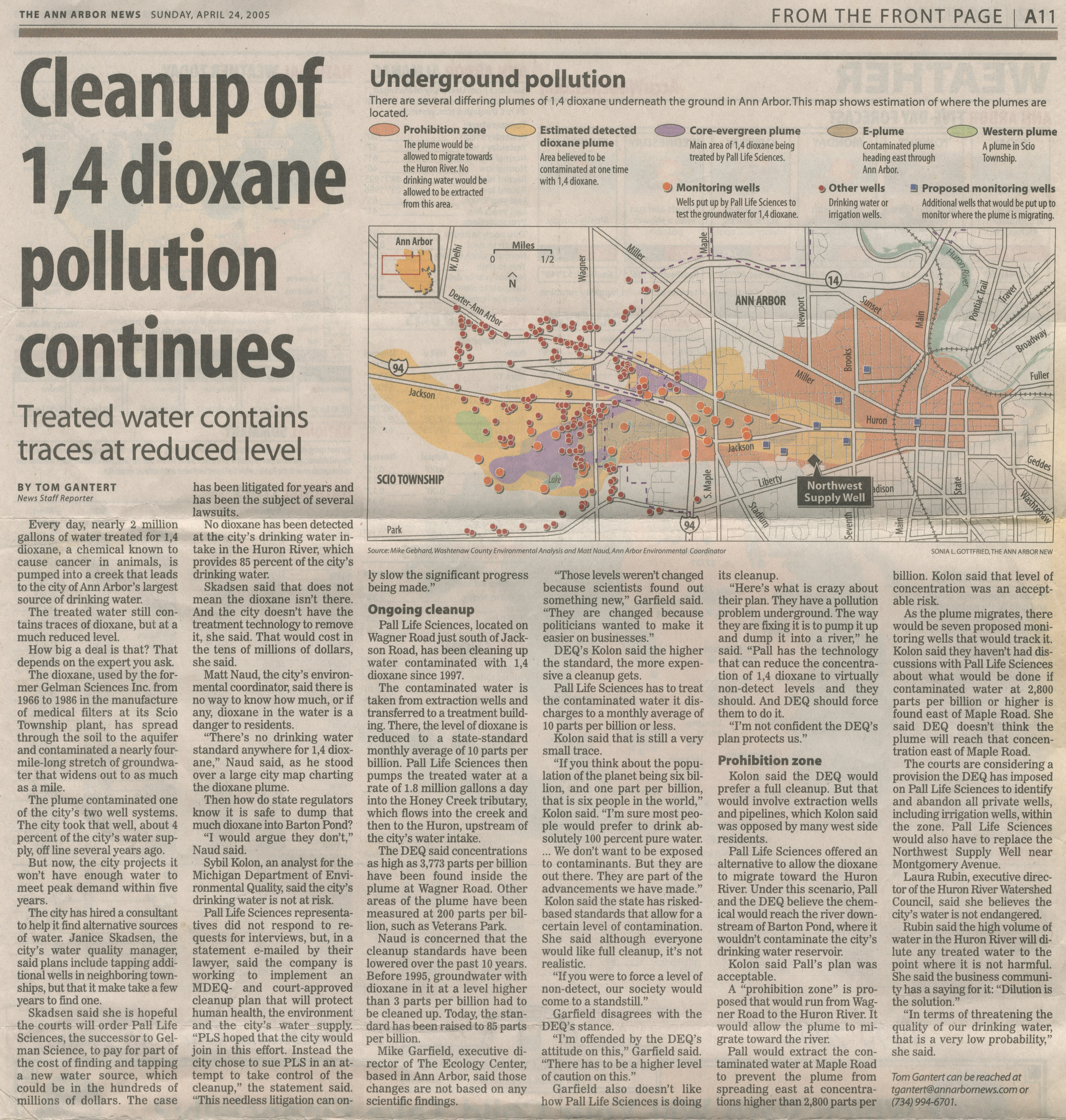 Cleanup Of 1,4-dioxane Pollution Continues image