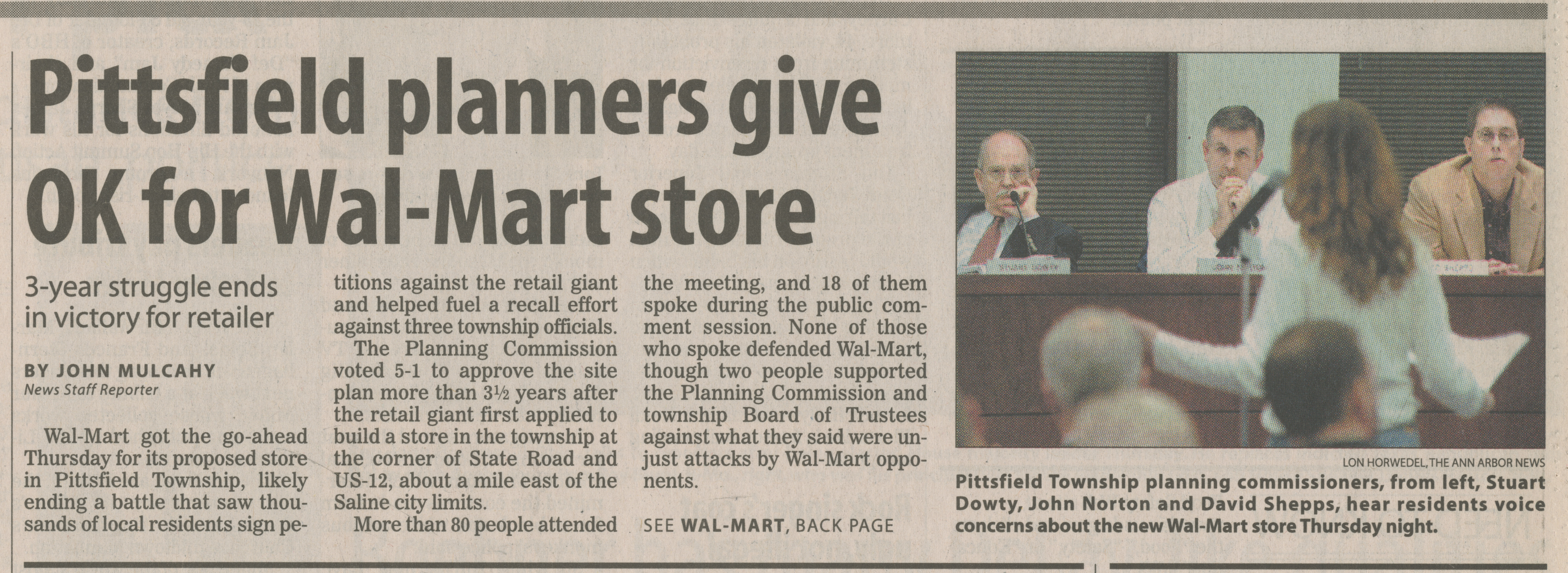 Pittsfield planners give OK for Wal-Mart store image