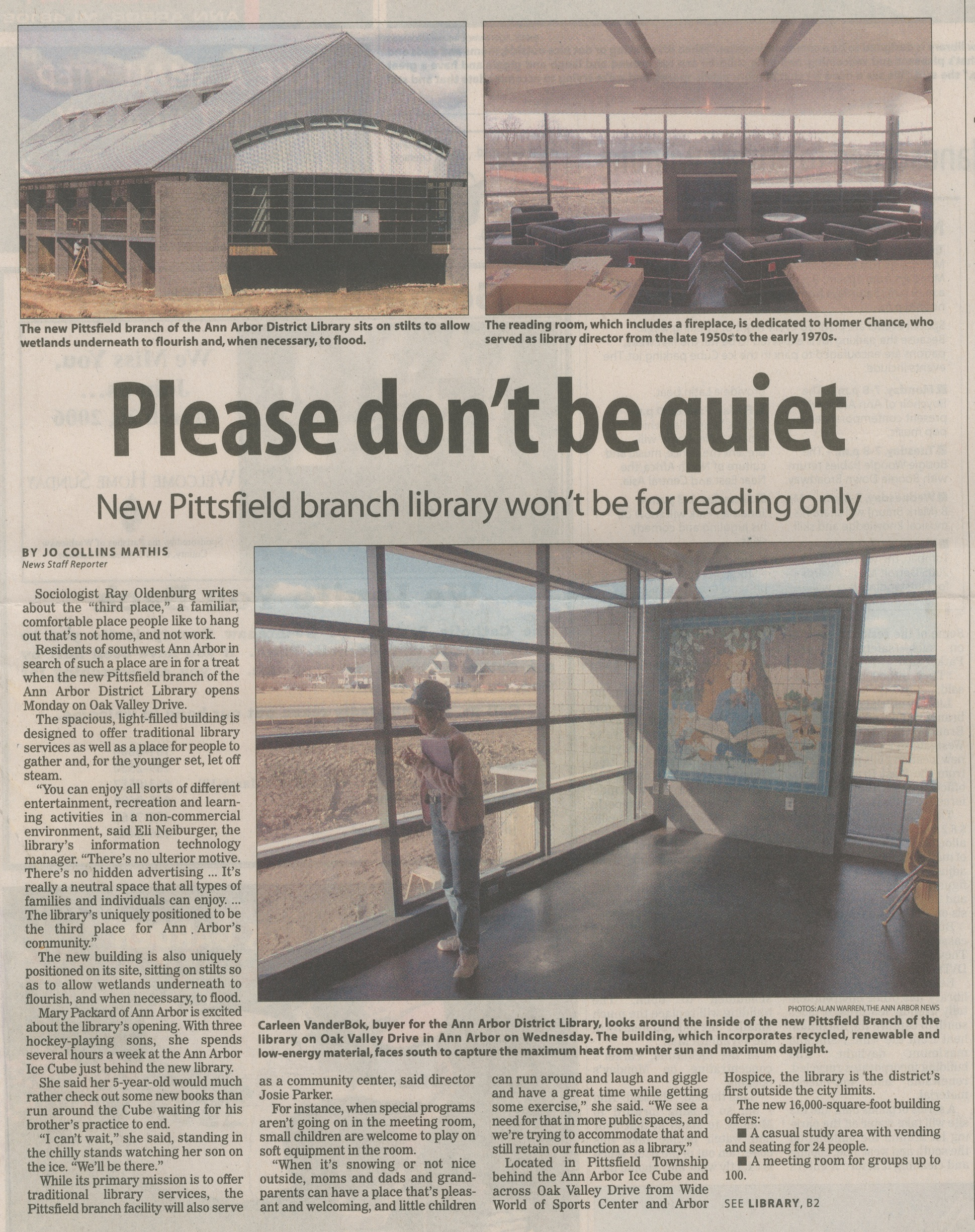 Please Don't Be Quiet - New Pittsfield Branch Library Won't Be For Reading Only image