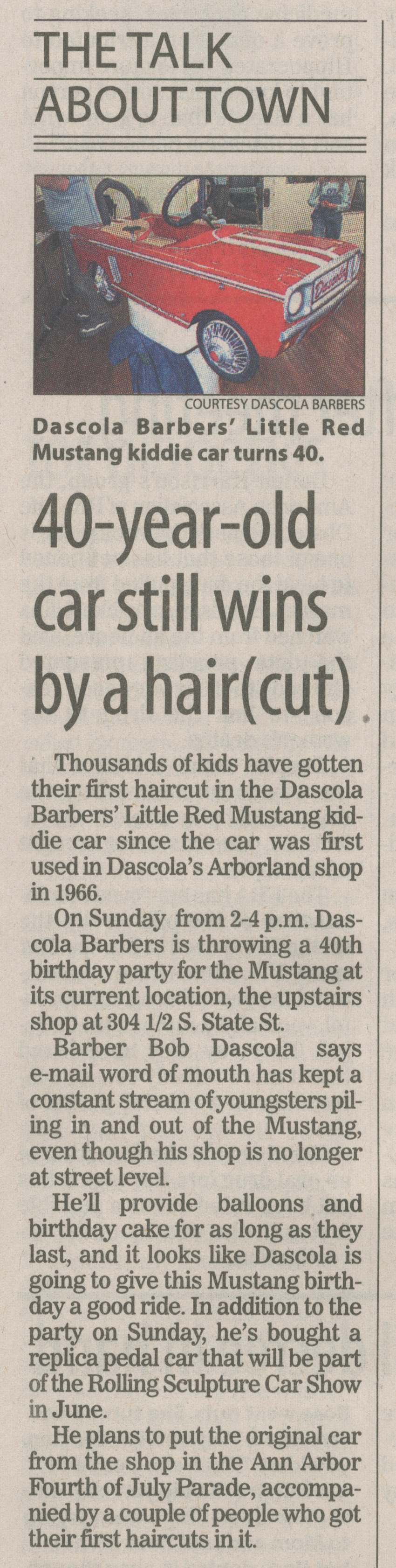The Talk About Town - 40-Year-Old Car Still Wins By A Hair (Cut) image