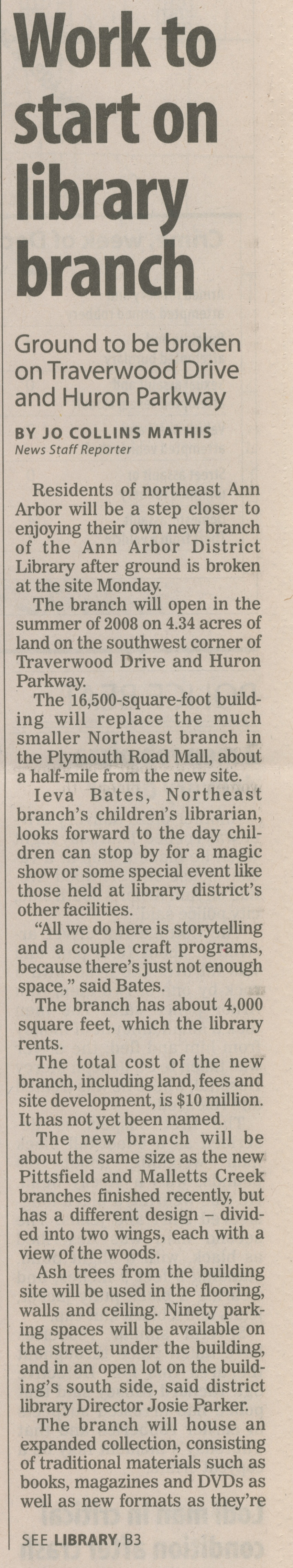 Work To Start On Library Branch image