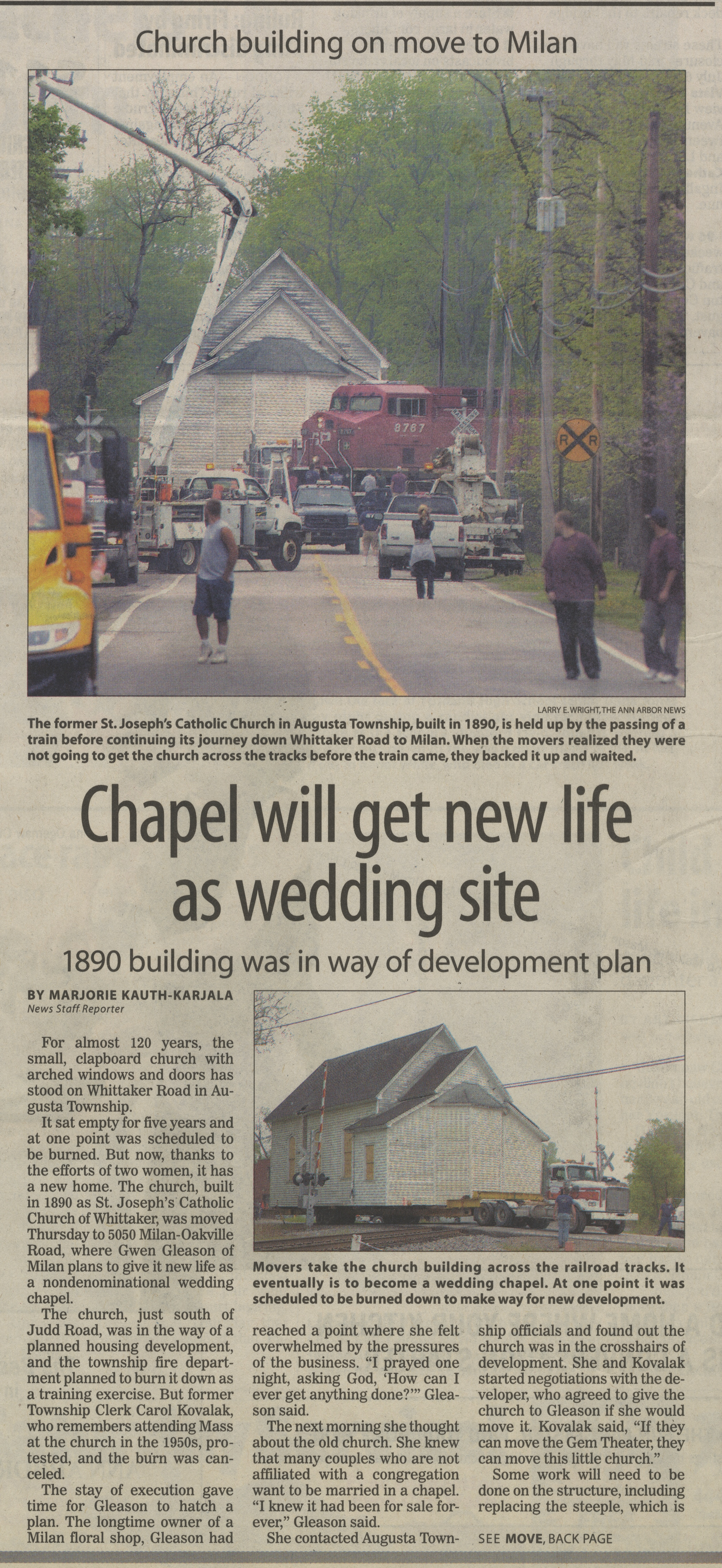 Chapel Will Get New Life As Wedding Site image