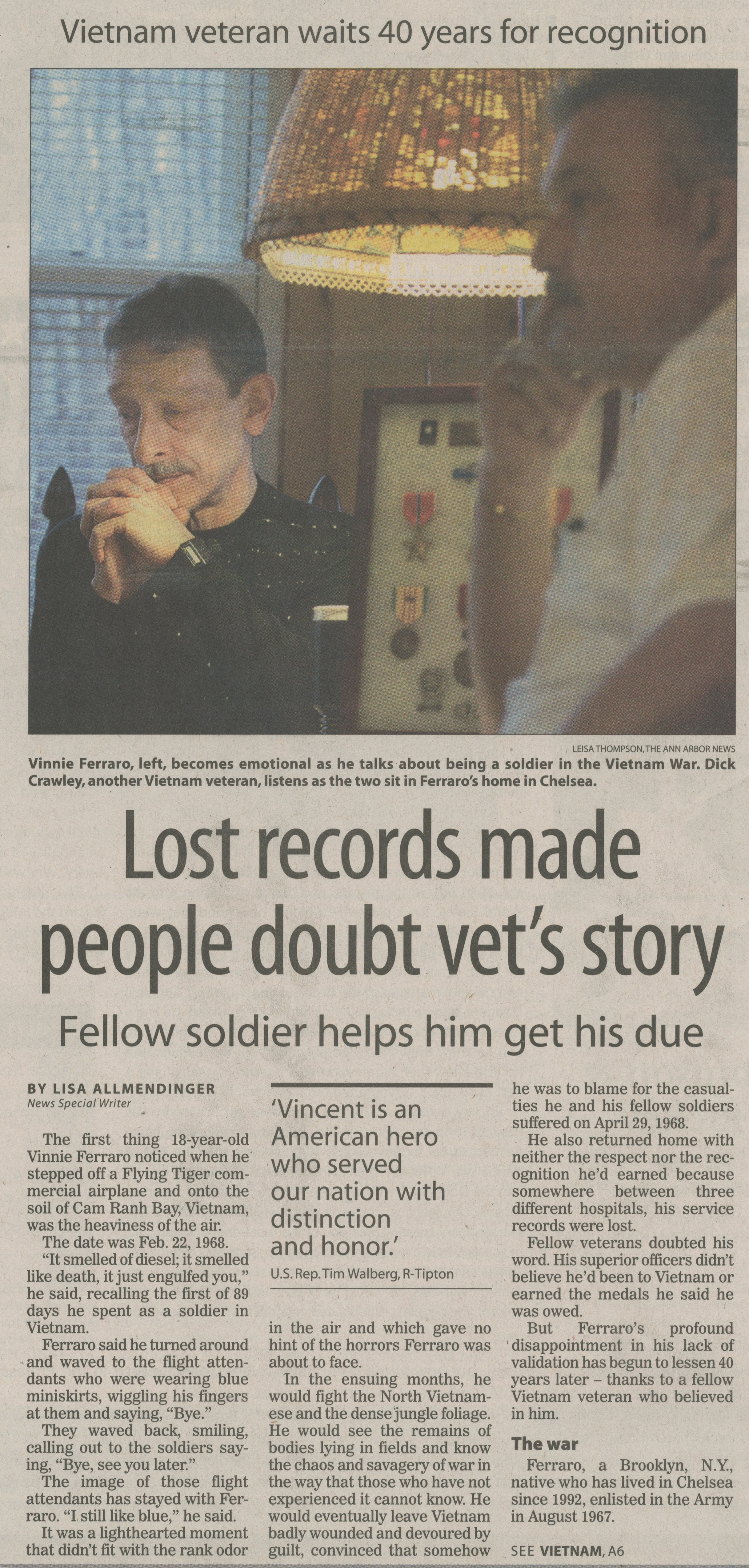 Lost Records Made People Doubt Vet's Story image