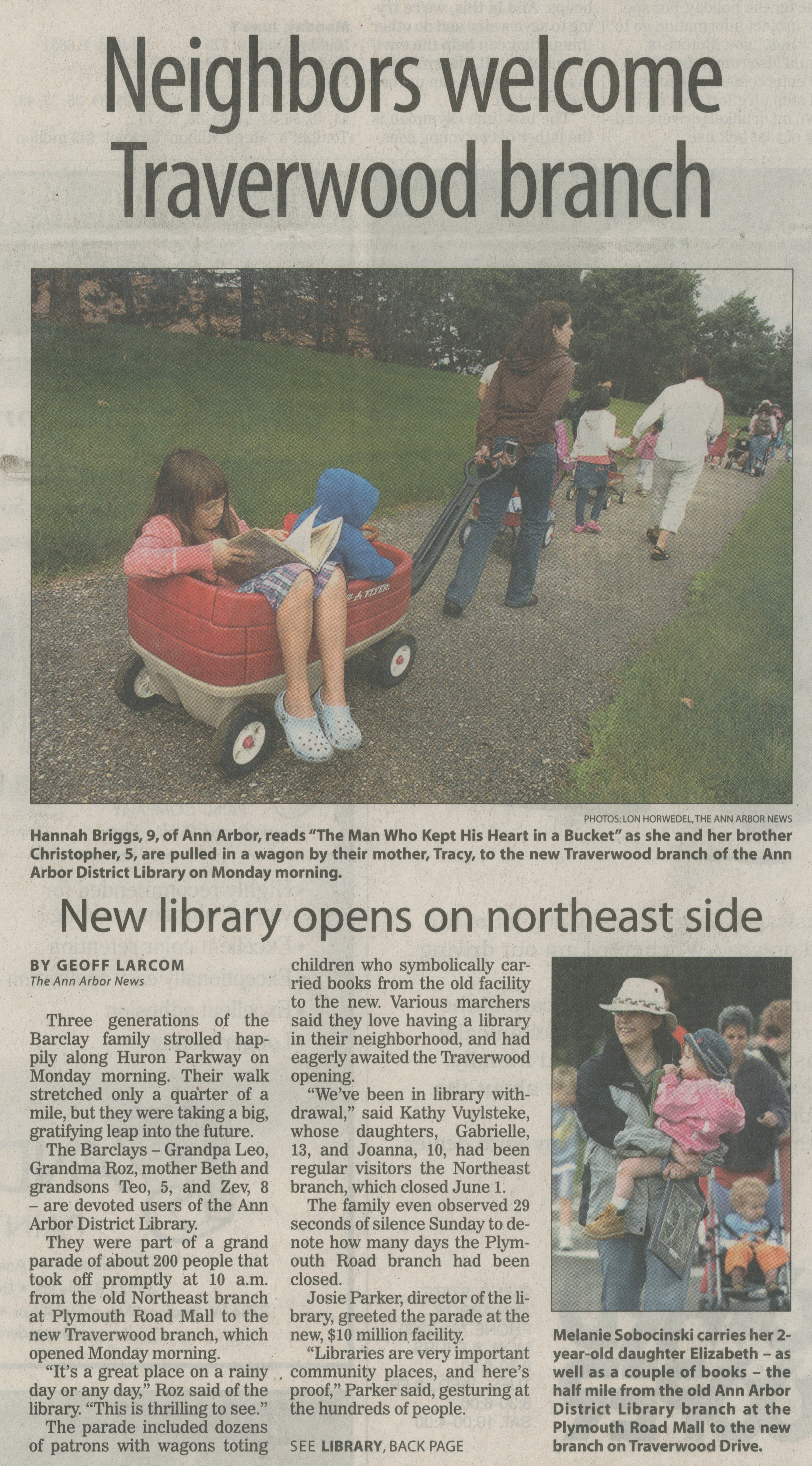 Neighbors Welcome Traverwood Branch - New Library Opens On Northeast Side image