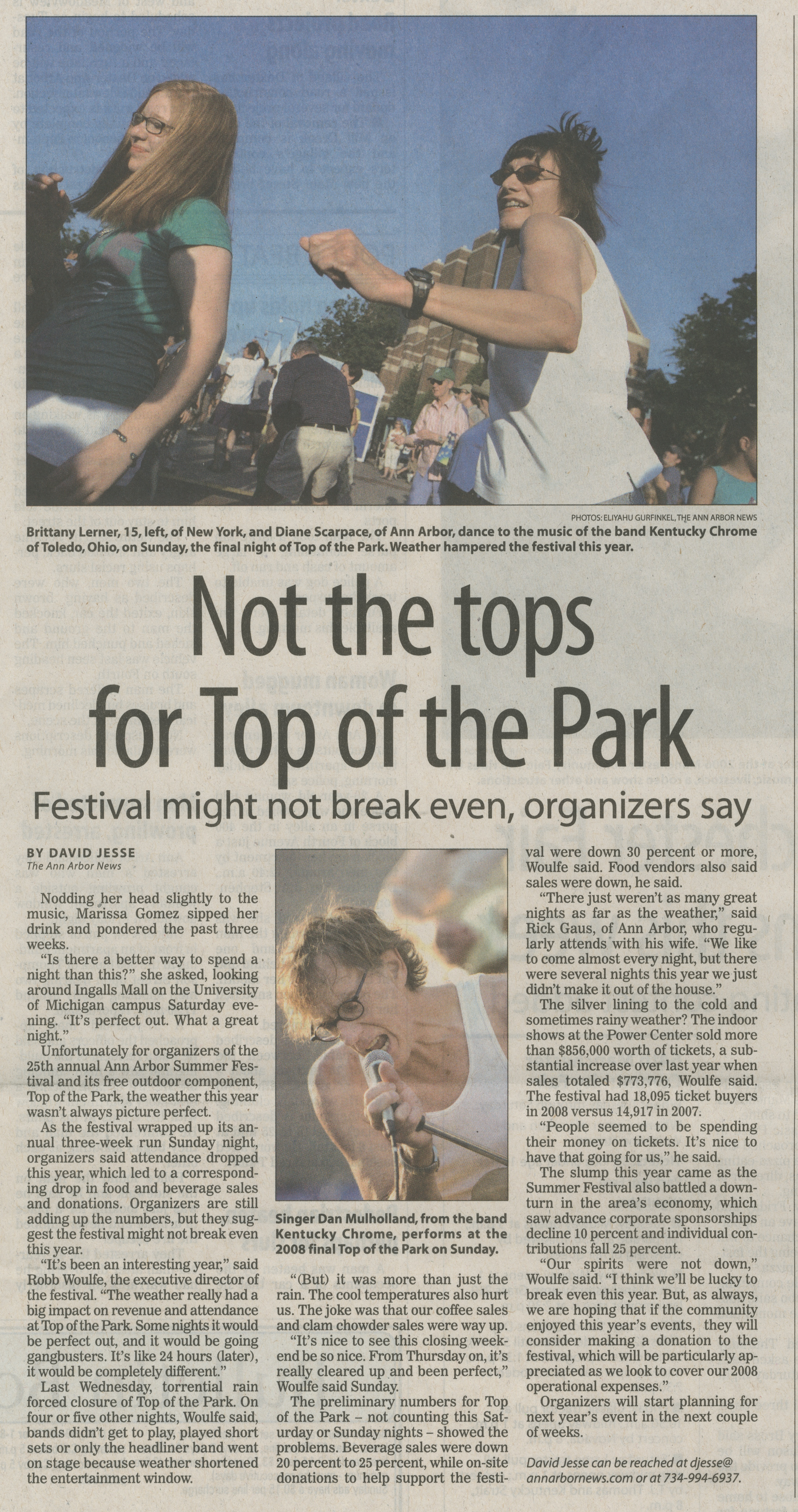 Not the tops for Top of the Park image