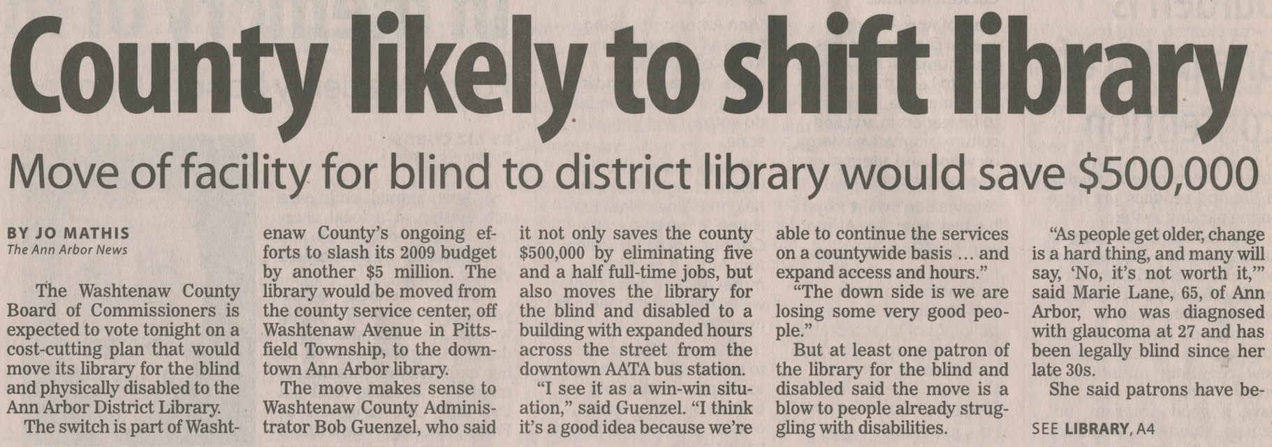 County Likely To Shift Library image