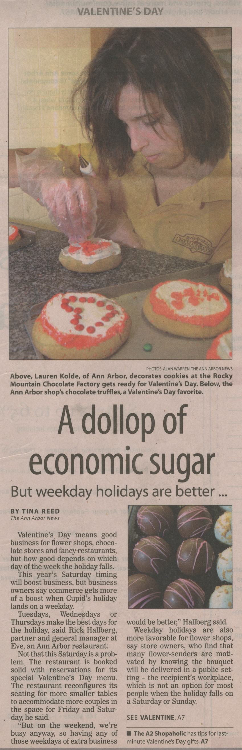 A Dollop of Economic Sugar: But Weekday Holidays Are Better . . .  image