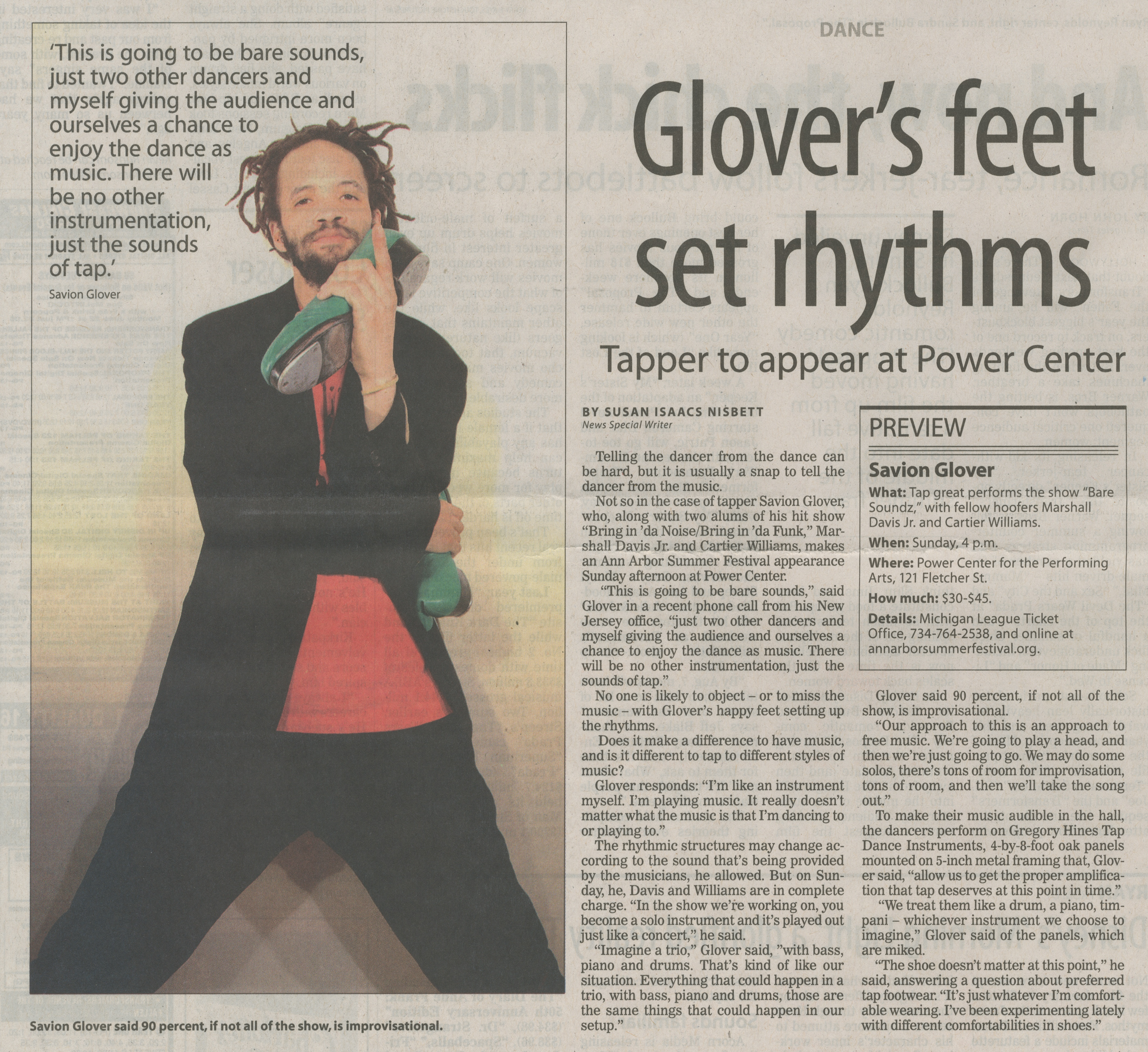 Glover's feet set rhythms image