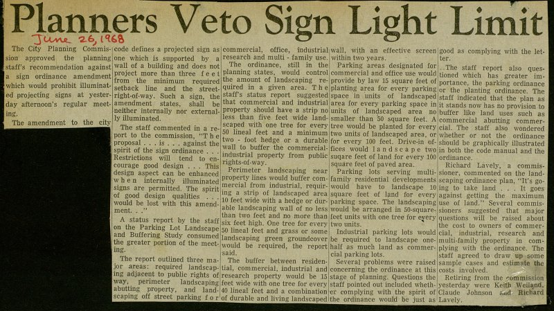 Planners Veto Sign Light Limit image