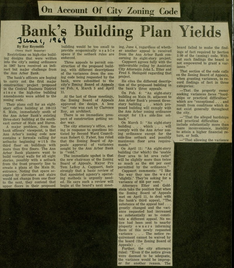 Bank's Building Plan Yields image