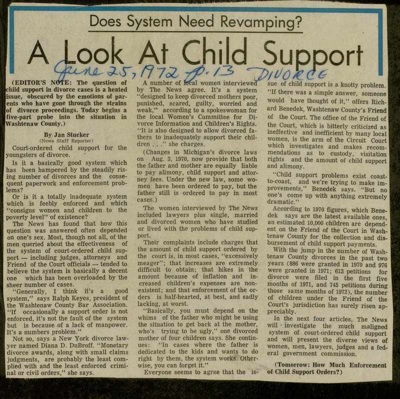 A Look At Child Support image