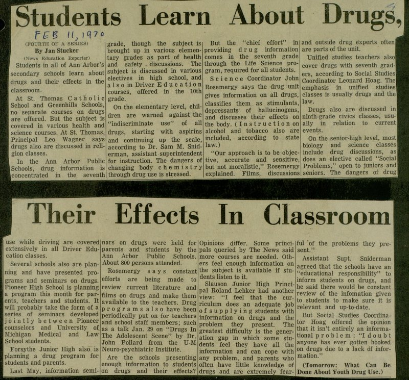 Students Learn About Drugs, Their Effects In Classroom image