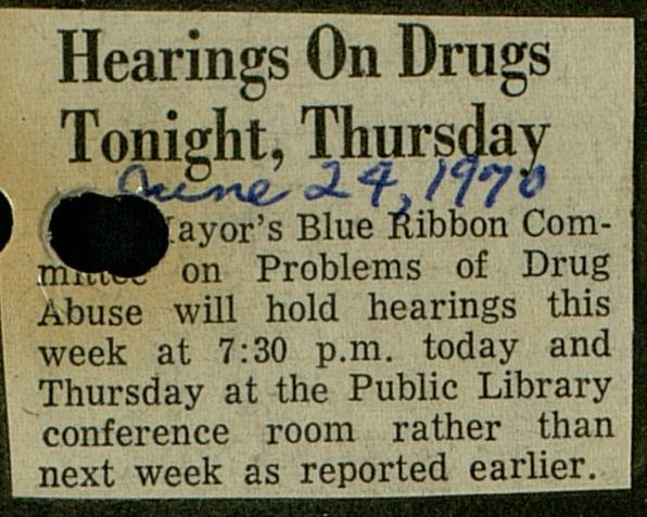 Hearings On Drugs Tonight, Thursday image