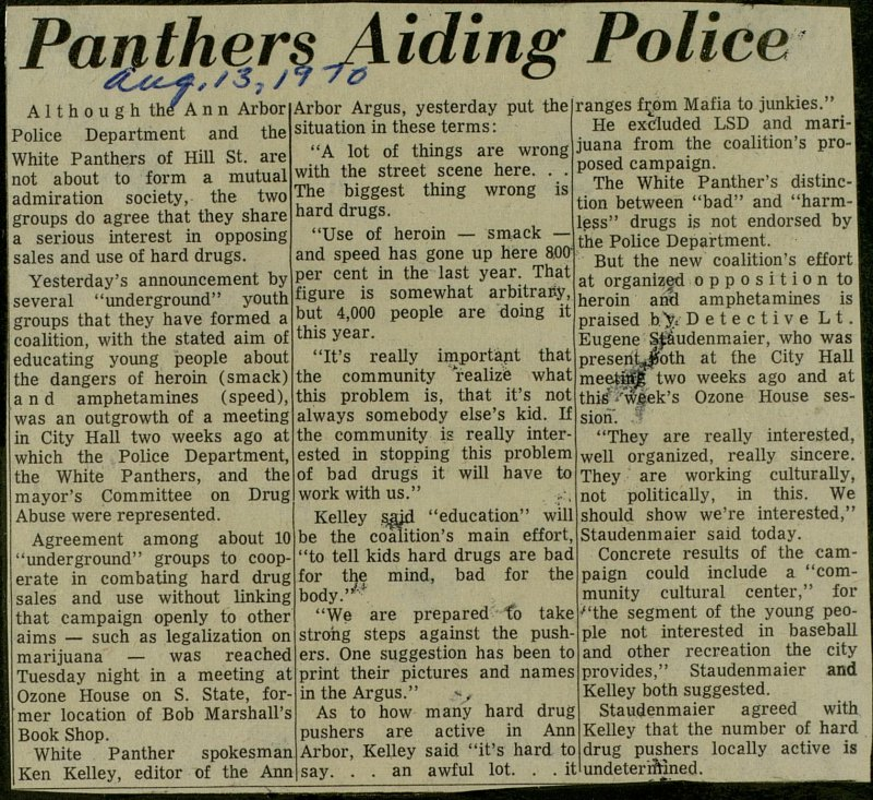 Panthers Aiding Police image