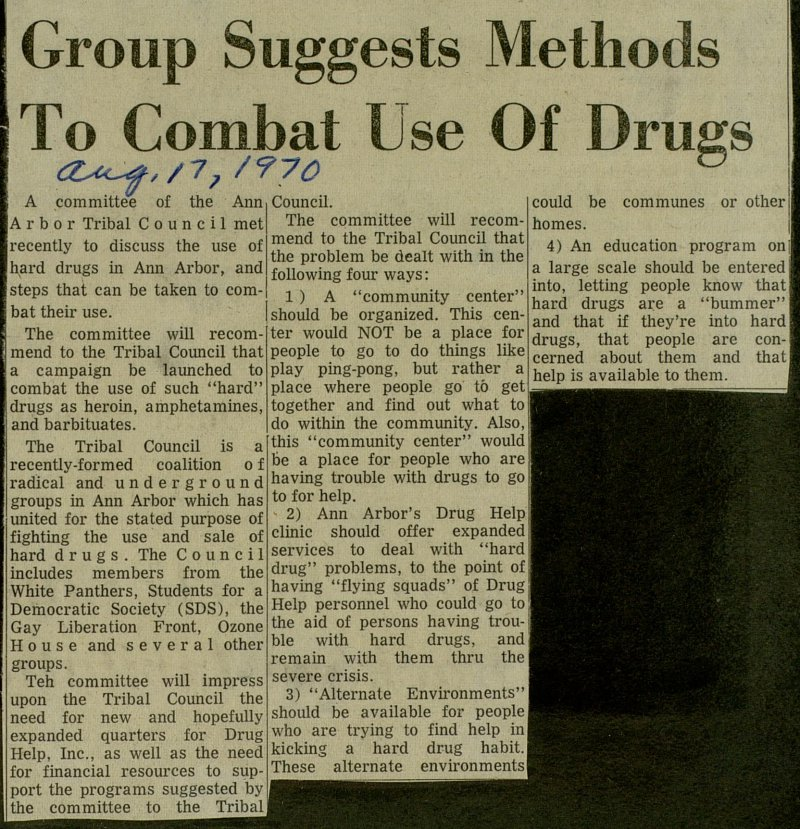 Group Suggests Methods To Combat Use Of Drugs image