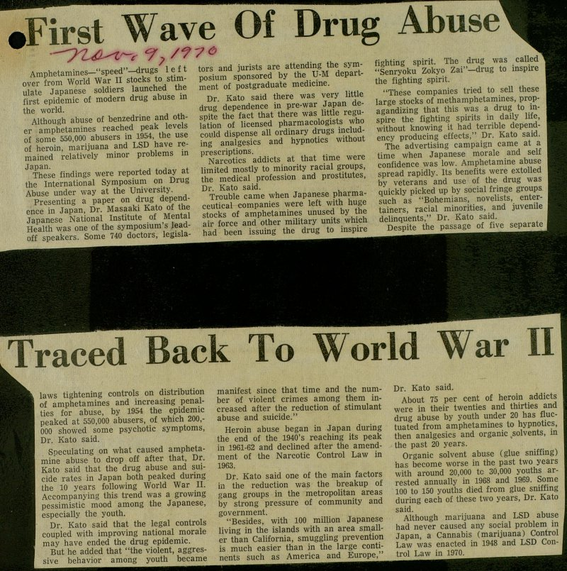 First Wave Of Drug Abuse Traced Back To World War II image