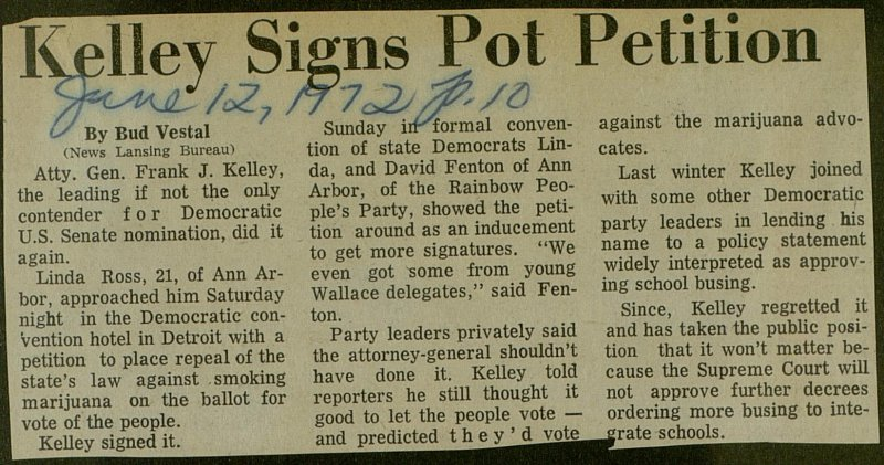 Kelley Signs Pot Petition image