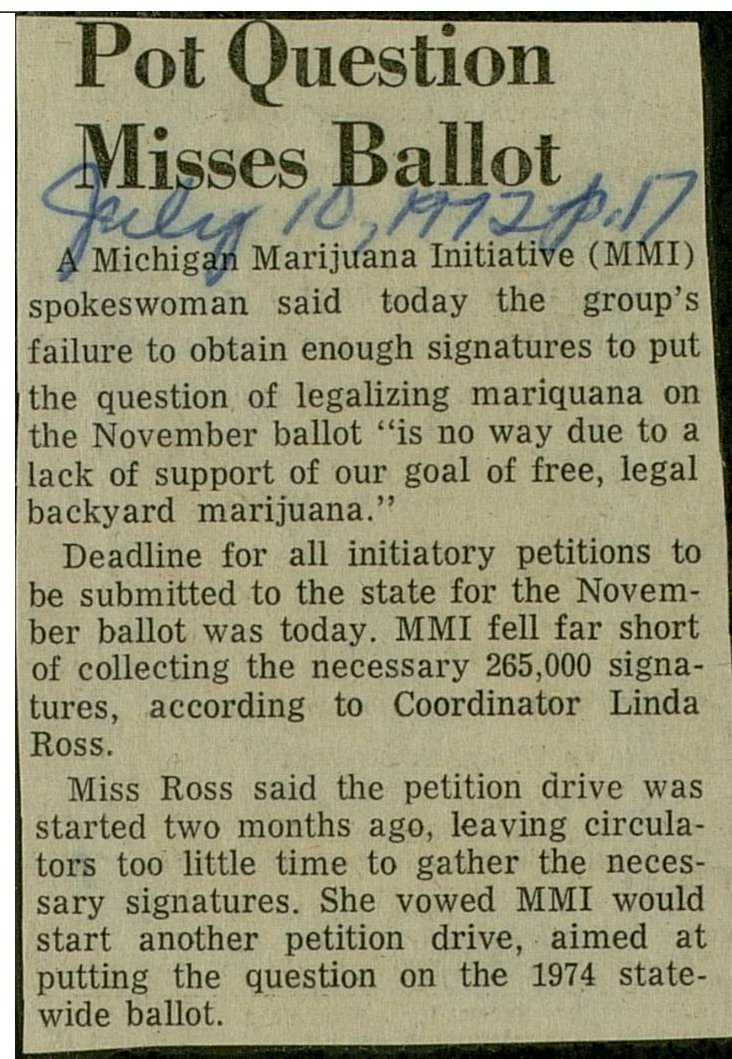 Pot Question Misses Ballot image