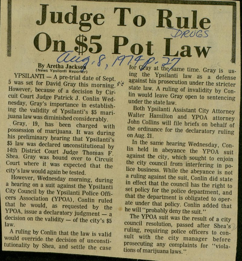 Judge To Rule On $5 Pot Law image