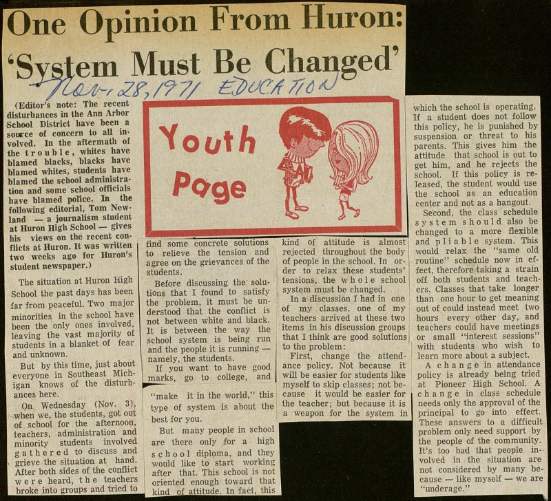 One Opinion From Huron: 'System Must Be Changed' image