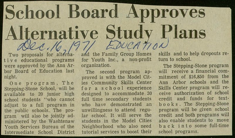 School Board Approves Alternative Study Plans image