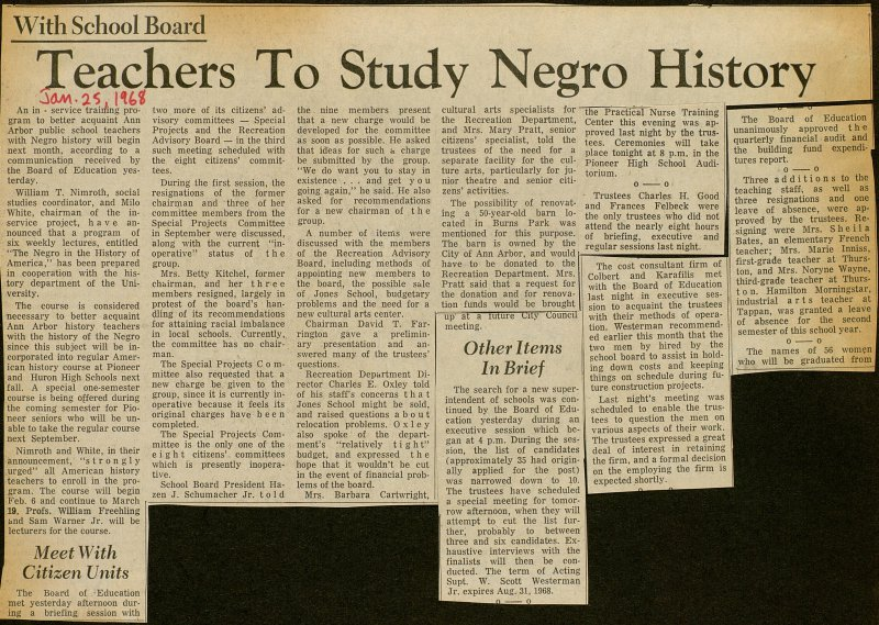 Teachers To Study Negro History image