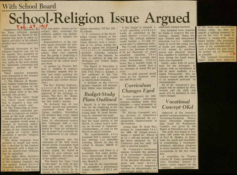 School-religion Issue Argued image