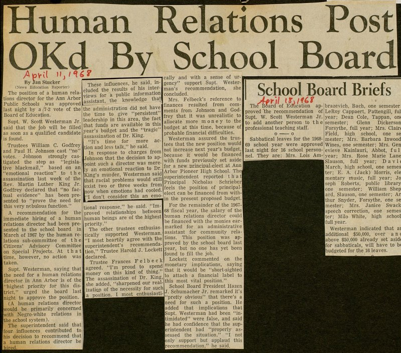Human Relations Post Okd By School Board image