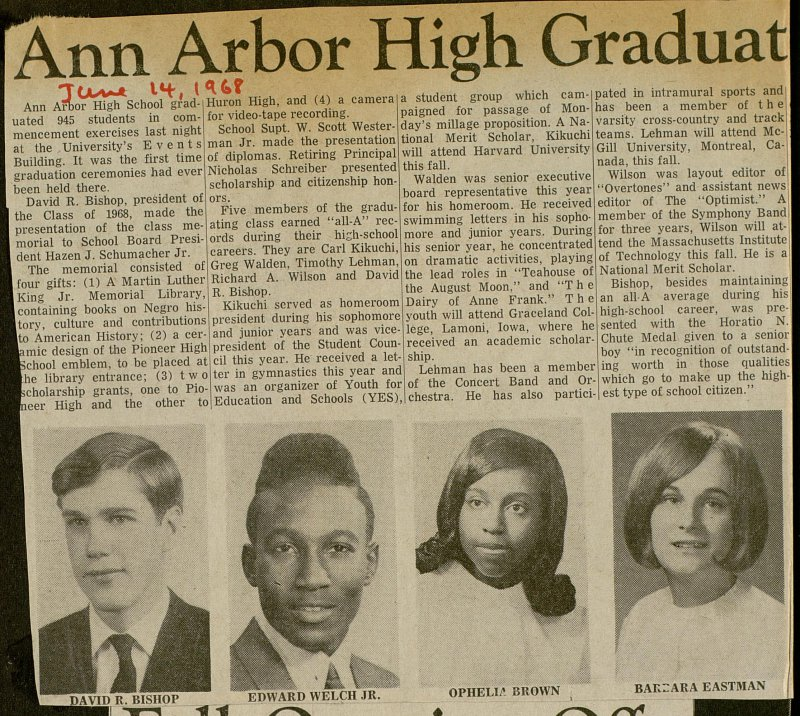Ann Arbor High Graduates 945 At Events Building image