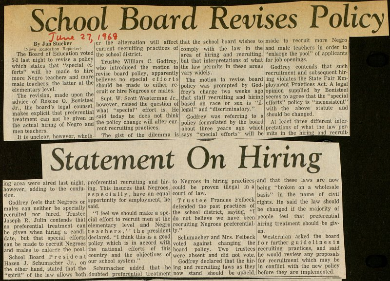 School Board Revises Policy Statement On Hiring image