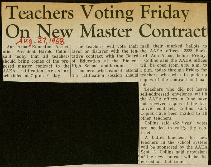 Teachers Voting Friday On New Master Contract image