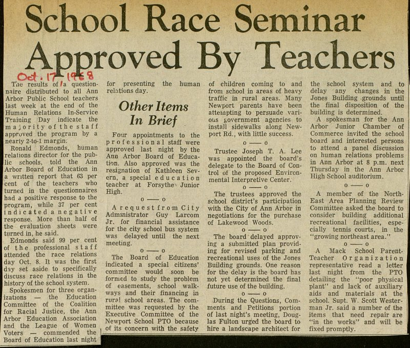 School Race Seminar Approved By Teachers image