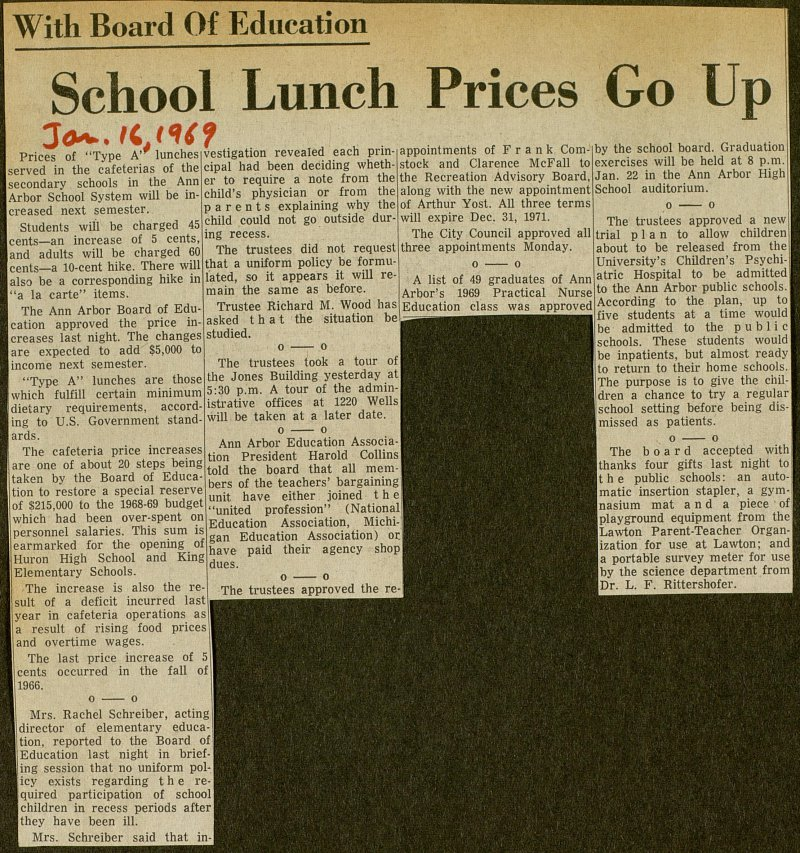 School Lunch Prices Go Up image