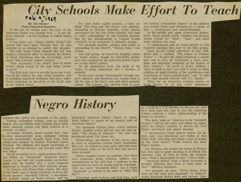 City Schools Make Effort To Teach Negro History image
