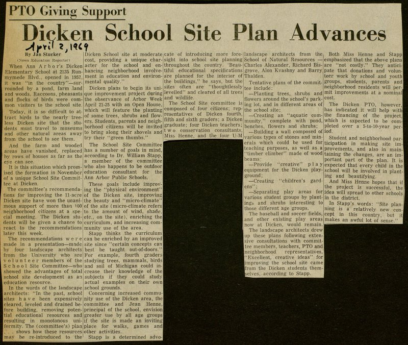Dicken School Site Plan Advances image