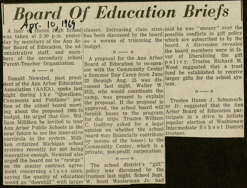 Board Of Education Briefs image